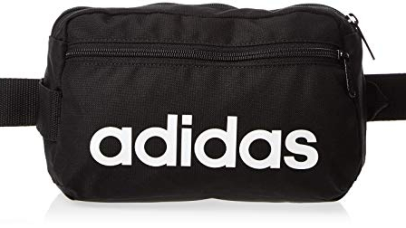 adidas - Borsa Linear Core, Black/Black/White (Nero) - DT4827